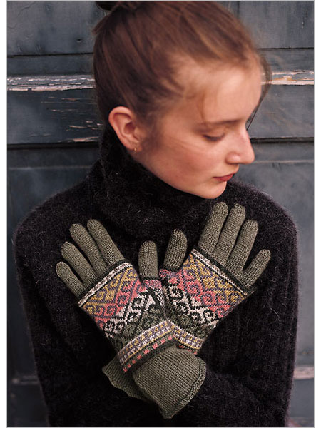 Layered turkish gloves