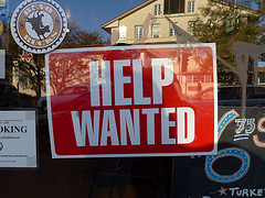 Help wanted sign -- Helping others to accept help